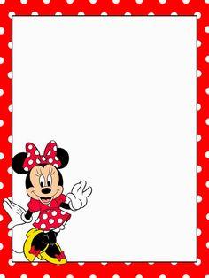 Cuaderno de Minnie en Rojo para Imprimir Gratis.