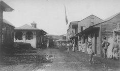 Vista a una Calle de Aibonito,año 1914,Puerto Rico.