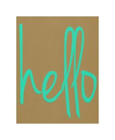 Hello  Typography art  Teal  Kraft  Cut paper by ScrappThis, $9.00