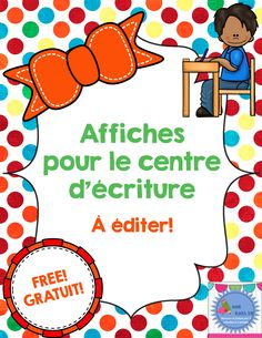 FREE/Affiches à éditer First Year Teaching, Teachers College, Teachers Corner, French Classroom, French Resources, French Immersion, Teaching Language Arts, Classroom Posters, French Lessons