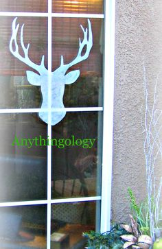 Anythingology painted Christmas windows