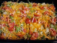 Give your friends and family something to taco about with this quick and easy Taco Casserole recipe. Make this yummy Taco Casserole in under one Read Cheesy Recipes, Mexican Food Recipes, Beef Recipes, Cooking Recipes, Ethnic Recipes, Recipies, Cake Recipes, Yummy Recipes, Healthy Recipes