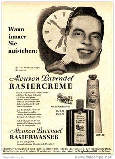 Original-Werbung/ Anzeige 1958 - MOUSON LAVENDEL RASIERWASSER - ca. 130 x 160 mm