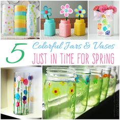 5 Colorful jars and vases just in time for spring!