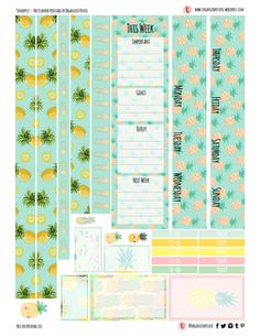 Pineapples - Free Planner Printable for Happy Planner Classic Free Planner, Planner Pages, Happy Planner, 2015 Planner, Blog Planner, Planner Ideas, Planner Layout, Goals Planner, Printable Planner Stickers