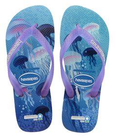 5068edf84e4e8 Havaianas White   Purple Conservation International Flip-Flop - Women