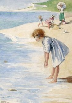 Illustrations de Honor Charlotte Appleton-(1879 - 1951) was born in Brighton on February 4, 1879....Honor Appleton developed a very delicate watercolor style that captured the innocent world of children, their adventures and life. She was influenced by illustrators such as Kate Greenaway, Annie French and other illustrators of the time. His watercolors are exposed to RA. Unfortunately, she died before seeing her works at the Hove Public Library in 1952.