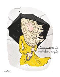 An umbrella on a rainy day ☂ Rose Hill Designs by Heather Stilllufsen