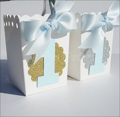 #Boys #FirstBirthday Popcorn #Favor Boxes by www.jaclynpeters.com