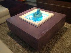 Purple Concrete table Lit -up with LED's