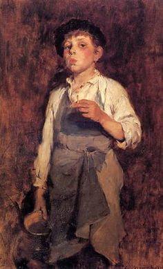 He Lives by His Wits, 1878, Frank Duveneck.  American Realist Painter (1848 - 1919)