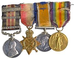 military medals - old ribbons