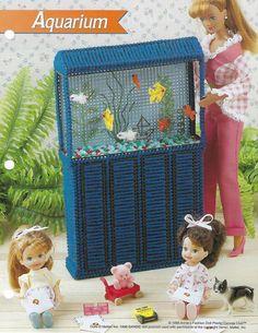 Aquarium Fish Barbie Fashion Doll Plastic Canvas Pattern in Crafts, Needlecrafts & Yarn, Needlepoint & Plastic Canvas Plastic Canvas Tissue Boxes, Plastic Canvas Crafts, Plastic Canvas Patterns, New Barbie Dolls, Barbie Doll House, Barbie Stuff, Barbie Clothes, Barbie Life, Diy Barbie Furniture