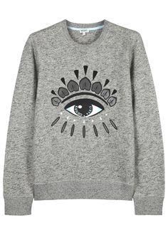 KENZO grey marl cotton sweatshirt