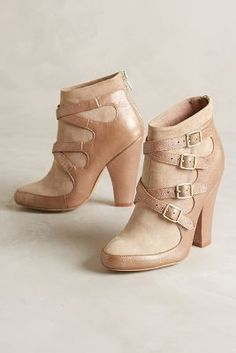 ON SALE Miss Albright Crossed Suede Booties Gold #AnthroFave
