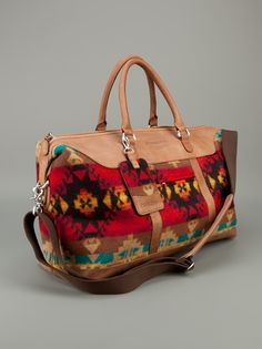 PENDLETON  'WEEKEND BAG' #HappyBirthdayBrastop Cowgirl Western Wear, Cowgirl Style, Cowgirl Fashion, Red Purses, Purses And Bags, Pendleton Bag, Duffel Bag, Tote Bag, Native Wears