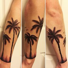 My new tattoo. Palm trees & dot work wrapped around my forearm.