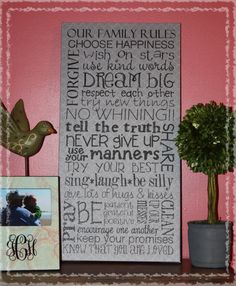 custom family rules canvas