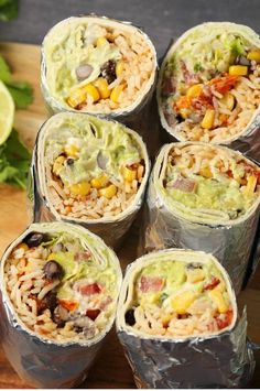 A vegan burrito recipe that is super filling, hearty, flavorful and every kind o. - A vegan burrito recipe that is super filling, hearty, flavorful and every kind of delicious! High Protein Vegetarian Recipes, Vegetarian Meal Prep, Vegan Foods, Vegan Dishes, Healthy Recipes, Vegan Vegetarian, Healthy Protein, Vegetarian Italian, Healthy Food