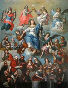 La Coronación de Maria con Santos, Anónimo, Museo Andrés Blaisten, Cdad. de México, D.F., via Flickr.