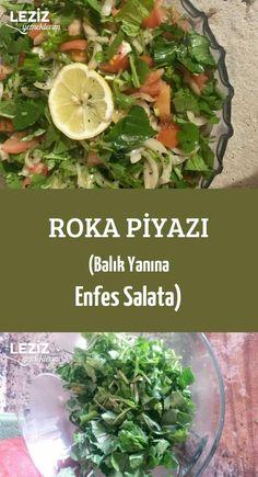 Arugula Chili (exquisiter Salat mit Fisch) - Pin This Turkish Recipes, Asian Recipes, Fish Recipes Trout, Fish Batter Recipe, Vegetarian Recipes, Healthy Recipes, Different Vegetables, Salad Bar, Meatloaf Recipes