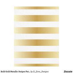 Bold Gold Metallic Shiny Stripes Pattern Fleece Blanket http://www.zazzle.com/bold_gold_metallic_stripes_pattern_fleece_blanket-256398214708452557?rf=238213022379565456