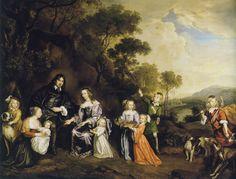 Jan Mijtens, 1650 - - - Willem van der Does with Wife and Children