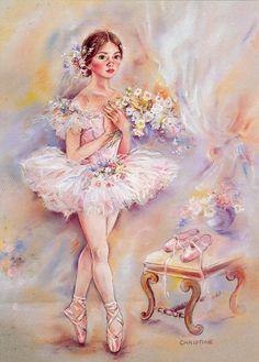 christine haworth art - Page 2 Art Ballet, Ballet Painting, Ballerina Art, Dance Paintings, Ballerina Dancing, Little Ballerina, Ballet Dancers, Painting & Drawing, Ballerinas