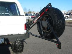 Rear Bumper & Tire Carrier with HiLift Jack Mount Jeep Truck, Chevy Trucks, Truck Repair, Jeep Mods, Camper Van Conversion Diy, Square Body, K5 Blazer, Tug Boats, Cool Gear