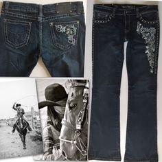 Montana West Trinity Ranch Graham Collection Bootcut Denim Jeans-. | eBay!
