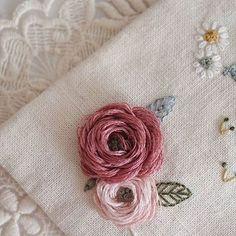 기.승.전 역시 꽃 #프랑스자수 #프랑스자수스티치북 #후아유네프랑스자수 #프랑스자수클래스 #embroidery #자수