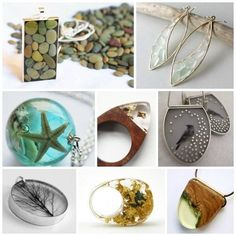 If you are looking to be inspired aboutwhere to take your resin jewelry making skills, this post is meant to push you forward. In this week's line-up I have selected several artists that I find to be very inspiring. It makes me want to comb the beach for beach glass ...