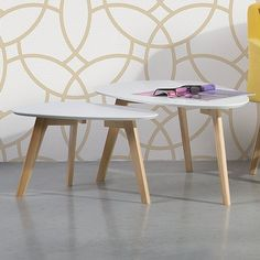 Fly II 2 Piece Nest of Tables Home Loft Concept Colour: White
