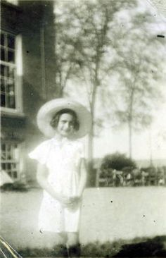 Anne Frank in Amstelrust, Amsterdam, in the summer of 1938.