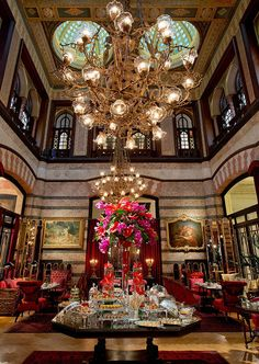 Tea time - Pera Palace Hotel, Istanbul, Turkey