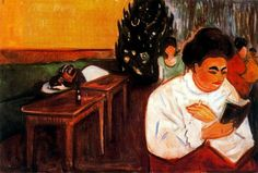 Christmas In The Brothel,  1905, by   Edvard Munch