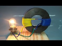 """This system of Free Energy Generator coil used for electric magnet motor rotation and for lighting of light bulbs. This homemade """"Free Energy"""" device operate. Renewable Energy, Solar Energy, Solar Powered Lamp, Electrical Energy, Solar Panel Installation, Energy Projects, Alternative Energy, New Technology, Futuristic Technology"""