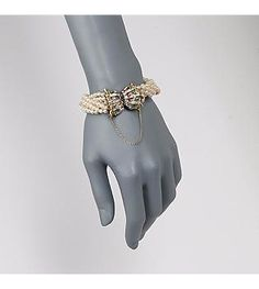 """Ross-Simons - C. 1960 Vintage 4-4.5mm Cultured Pearl Bracelet With Diamonds and Emeralds in 14kt Yellow Gold. 7"""" - #870133"""