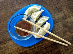 The dipping sauce is AMAZING! Potstickers with Dipping Sauce