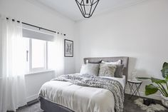 Ronnie & Georgia | House Decider Challenge Grey Headboard, Bedroom Photos, Modern Victorian, Hamptons Style Bedrooms, The Hamptons, Contemporary, House, Ideas, Furniture
