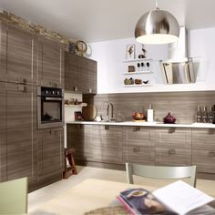 Meuble de cuisine delinia composition type topaze vert - Devis cuisine leroy merlin ...