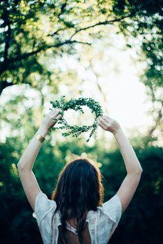 디콤마(d,), 셀프 웨딩, 셀프촬영, 헤어(Hair), 화관(Flower crown) : 네이버 블로그