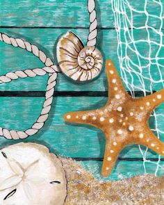 wine and canvas painting ideas Wine Painting, Easy Canvas Painting, Summer Painting, Diy Canvas, Painting & Drawing, Canvas Art, Starfish Painting, Nautical Painting, Canvas Ideas