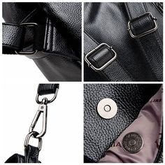 Genuine Leather Multifunctional Crossbody Bag Shoulder Bags Backpack is designer, see other cute bags on NewChic. Backpack Tutorial, Cute Bags, Belts For Women, Multifunctional, Backpack Bags, Chic Outfits, Latest Fashion Trends, Crossbody Bag, Backpacks
