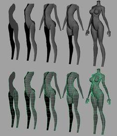 モデリング参考 Green Things green color in fireworks 3d Model Character, Character Modeling, Character Drawing, 3d Anatomy, Anatomy Poses, Human Anatomy, Anatomy Male, Maya Modeling, Modeling Tips