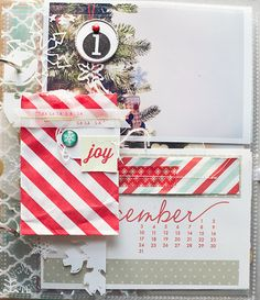 Celebrate December with Jennifer Kinkade | Elle's Studio Blog - Great idea with a partial page Transparency including envelope.
