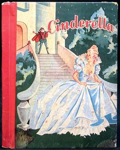Cinderella. Illustrated by Sari. McLoughlin Bros, Inc. 1940. Little Color Classics # 836. Small illustrated hardcover, no dust jacket. Large Print. Beautiful color and black & white illustrations fill this classic timeless fairy tale. Some wear and rubbing at edges and