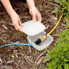 TEMPORARY Extension Cord Protection from the Family Handyman! The Family Handyman Temporary Extension Cord Protection - If you're having a party or some other event in the yard and you need additional electricity sources, here's a Camping Ideas, Camping Hacks, Camping Supplies, Rv Camping, Camping Michigan, Ohio Hiking, Camping In The Rain, Travel Trailer Camping, Camping Jokes