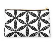 Floral pattern in #blackandwhite Studio #Pouches #redbubble http://www.redbubble.com/people/cocodes/works/21640581-floral-pattern-in-black-and-white?p=pouch