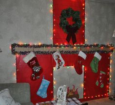 Fireplace for the children. All made out of construction paper ...